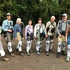 For birding in the forest, Megan and crew show off their fancy gaiters, used to keep land leeches from getting a free meal during trail time. Photo by participant Marshall Dahl.