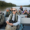 """The Kinabatangan River has so much to offer--from Storm's Storks, Bornean Ground-Cuckoos, and White-crested Hornbills to raptors, pigeons, and mammals of many kinds. Travel here is mostly by boat, which must have seemed a luxury after several """"warm"""" walks in the rainforest. Photo by participant Wayne Whitmore."""