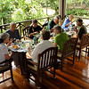 Our group dining at the Borneo Rainforest Lodge -- really roughing it! (Photo by participant Nancy Dengler)