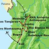Next up it's back to the New World and Colombia, where we ran four tours on three different itineraries earlier this year. The route shown here is for our Colombia: The Cauca Valley, Central & Western Andes tour, which was guided by Richard Webster.