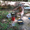 A hot snack or lunch in the field as a birding break? Not a problem...our ground crew on the Thailand tour is legendary for their support, ingenuity, and great outdoor cooking! (Photo by participant Jim Brown)