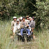 Access into the right habitat for our target birds a little difficult? Get out a fat-tired tractor and a cart and improvise! Guide Bret Whitney gets an on-the-hood ride as the group heads out for some more endemics. (Photo by guide Marcelo Padua)