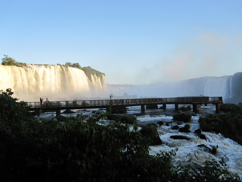 This is the panorama toward the Devil's Throat on the Brazilian side of Iguazu Falls (that's Argentina over to the right). (Photo by participant Max Rodel)