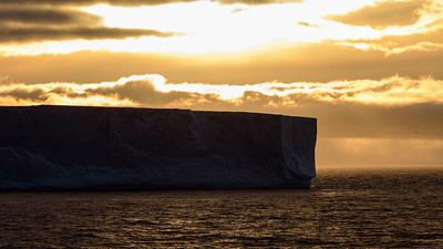 Participant Jim Jackson shared this lovely image of a tabular iceberg at sunrise.