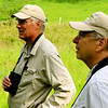 "Back in late May, guide John Rowlett (aka ""Peppershrike,"" at right, who lives in Charlottesville) led the tour again. This year he was joined by our ""Kingfisher,"" John Coons, who migrated in from Flagstaff to co-lead the tour. (Photo by participant Bill Meyer)"