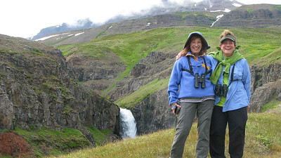 Cousins Leslie and Ellen at Nykurtjorn on our Iceland tour...a beautiful setting for a family pic. Photo by guide Eric Hynes.