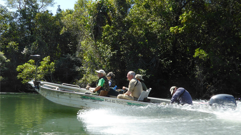 Boating at Garden of the Amazon--a relaxing way to get out birding. Photo by participants David and Judy Smith.