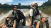 Afternoon boat ride on Kinabatangan River with boatman Apia bird guide Hazwan Anne Hinnendael and Shelli Vacca bor16p Suzanne Winckler