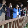 First stop at Rancho...and each morning while there...birding from the balcony with a coffee assist! (Photo by guide Megan Edwards Crewe)