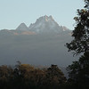 Our itinerary visits the mountains as well as the plains...here's a view of Mt Kenya from the Mountain Lodge. (Photo by guide Terry Stevenson)