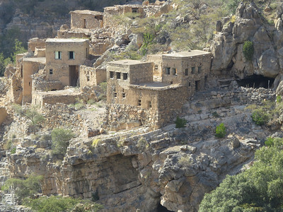 The deserted village of Wadi Bani Habib at Jebel Akhdar, photograhed by guide Phil Gregory