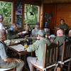 We were treated to some fantastic meals during our stay -- and bird photos on the walls. Photo by guide Mitch Lysinger.
