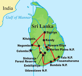From Madagascar we head eastward to another key island, this one off the southern coast of India: Sri Lanka.