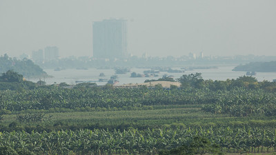 Vietnam's capital city, Hanoi, looms in the hazy distance in this shot by guide Doug Gochfeld.