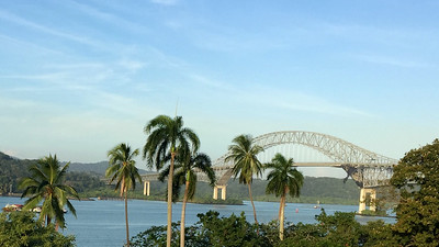The famous Bridge of the Americas spans the southern entrance to the Panama Canal. Photo by participant Howard Patterson.