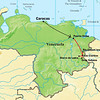 Here's a map our of VENEZUELA: TEPUIS ENDEMICS itinerary, reaching down into the northern edge of the Gran Sabana, a vast, rolling grassland edged by the tepuis formations.