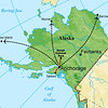 We operate two Alaska tours annually, each in two parts: Part I to St Paul and Denali, Part II to Nome, down to Seward, and then to Barrow. It's a big place, and the connecting hub to almost anywhere is through Anchorage.