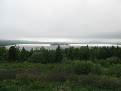 A view of the lovely Rangeley Lake area in the evening (Photo by guide Eric Hynes)