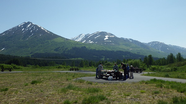 Not a bad spot for a picnic en route to Seward, south of Anchorage! (Photo by participant Neil McDonal)