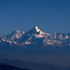The Himalayas beckon: A view of Nanda Devi from the town of Nainital, 75 miles away. (Photo by participant Marshall Dahl)