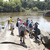 Loading the canoe at Foengoe Island on our Raleigh Falls/Voltzberg visit (Photo by participant Steve Matherly)
