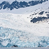 We saw spectacular scenery in Kenai Fjords National Park from a boat cruise out of Seward where glaciers are calving into the sea. To get a sense of scale here, check out the two 100'+ boats at the bottom edge of the ice...!  (Photo by guide George Armistead)