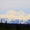 Denali is large enough to create its own weather, which often obscures the peak in cloud cover; we got lucky on this day with a clear view of North America's highest peak. (Photo by guide Jesse Fagan)