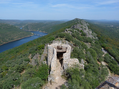 A view over Monfrague National Park (southwest of Madrid) from the castle ruins (Photo by participant Ed LeGrand)