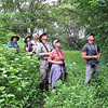 Guide Mitch Lysinger (r.) has the group watching for something at the Jorupe reserve near Ecuador's border with Peru. Photo by participant Randy Beaton.