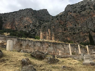 This is the Apollo Temple in Delphi. Photo by guide Megan Edwards Crewe.