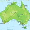 """We begin this month's Recent Photos gallery """"down under"""" in Australia with the following set of wonderful images captured by participant Greg Griffith. Our two-parted route encircling Oz is shown here."""
