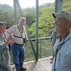 A few of us enjoying a light moment on the canopy walkway in the Arenal area on Part One (Photo by participant Dan Victor)