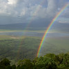 The right time at the right place: participant Fred Dalbey captured this lovely double rainbow above the Ngorongoro crater.