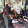 And while we've been out birding, our driver, Edgar (r.), has been cooking up a little snack. Looks like local guide Marcelo is ready to dive in... (Photo by participant Dorothy Copp)