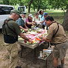To maximize our time in the field and keep the troops well fed, it's another famous Field Guides picnic! (Photo by guide Chris Benesh)