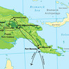 Here's our Papua New Guinea tour route, reaching from the capital of Port Moresby to the highlands at Kumul and Ambua lodges, the westernmost reaches at lowland Kiunga up into the mountains at Tabubil, and in the northern lowlands at Karawari.