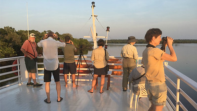 The open top deck of our live-aboard boat was an excellent place to hang out early or late in the day. Photo by participant Gerald Tasset.