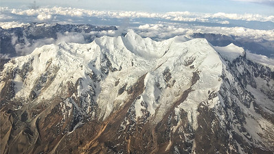 The aerial views of the Andes alone, are worth a flight to Bolivia. Photo by guide Micah Riegner.