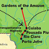 Here's our route in Brazil for the Jaguar Spotting itinerary, starting in the major Brazilian city of Cuiaba...