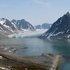 Magdelenafjorden glacier from the Spitsbergen tour -- one of many gloriously scenic moments along the way. (Photo by guide John Coons)