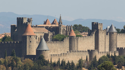 The walled city of Carcassonne (Photo by guide Tom Johnson)