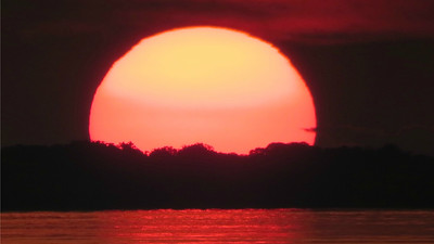 Participant Thomas Collins shared this amazing amber sunset on the Rio Negro.