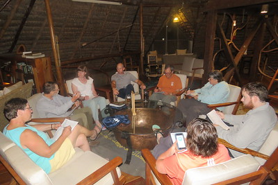 When you are birding in Amazonia, the nightly checklist session requires lots of checkmarks. Photo by participant Bruce Cressman.