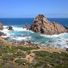 We were lucky to have perfect weather for our visit to Sugarloaf Rock in Leeuwin-Naturaliste National Park -- one of the most recognizable formations on the coast of Australia. (Photo by guide Lena Senko)