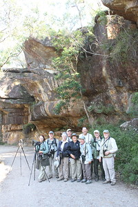 After scoring our two main targets, Superb Lyrebird and Rock Warbler, we paused for a group shot in Royal National Park near Sydney. (Photo by guide Phil Gregory)