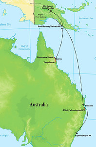 Let's stay in Australasia to highlight the next tour. Phil Gregory guided our 'New Guinea & Australia' trip, which covers the rich and diverse offerings from a select set of locations in Queensland (plus a hop to Sydney) and Papua New Guinea.