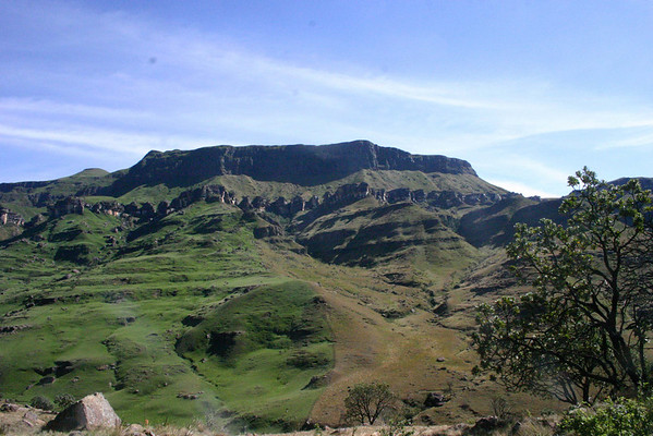 """Shifting continents, here's a view up towards Lesotho at base of the Sani Pass, brought back from our South Africa tour by guide Phil Gregory.<div id=""""caption_tourlink"""" align=""""right"""">Link to: <a id=""""caption_tourlink"""" href=""""http://www.fieldguides.com/southafrica.htm"""" target=""""_blank"""">SOUTH AFRICA</a><br>[photo © Phil Gregory]</div>"""