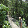 "Participant Myrna Noye and others from one of our 2008 groups head across the bridge for some rich forest birding at Finca Patrocinio.<div id=""caption_tourlink"" align=""right"">Link to: <a id=""caption_tourlink"" href=""http://www.fieldguides.com/guatemala.htm"" target=""_blank"">GUATEMALA: SHADE-GROWN BIRDING & HORNED GUAN HIKE</a><br>[photo © Alvaro Jaramillo]</div>"
