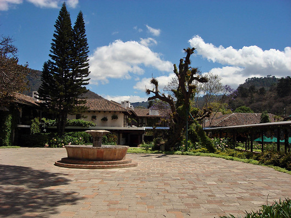 """Casa Santo Domingo in Antigua, one of the lovely stops on our Guatemala itinerary.<div id=""""caption_tourlink"""" align=""""right"""">Link to: <a id=""""caption_tourlink"""" href=""""http://www.fieldguides.com/guatemala.htm"""" target=""""_blank"""">GUATEMALA: SHADE-GROWN BIRDING & HORNED GUAN HIKE</a><br>[photo © Alvaro Jaramillo]</div>"""