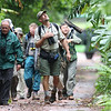 "In this image from participant Brian Schoeffler, guide Jan Pierson leads the gang on a birding walk in the forest on the Brazilian side of the falls at Iguazu, where everything from Blond-crested Woodpecker and Russet-winged Spadebill to Spot-billed Toucanet and Sharpbill may be found.<div id=""caption_tourlink"" align=""right"">Link to: <a id=""caption_tourlink"" href=""http://www.fieldguides.com/brazsampler.htm"" target=""_blank"">BRAZIL: ITATIAIA, IGUAZU FALLS & THE PANTANAL</a><br>[photo © Brian Schoeffler]</div>"
